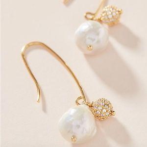 anthropologie Lorna Pearl Drop Earrings NWT